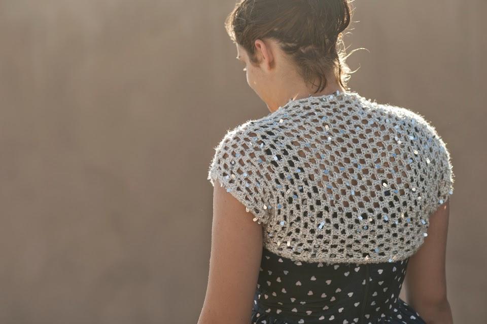 Ball Hank n Skein: Glam Girl Shrug - Free Crochet Pattern