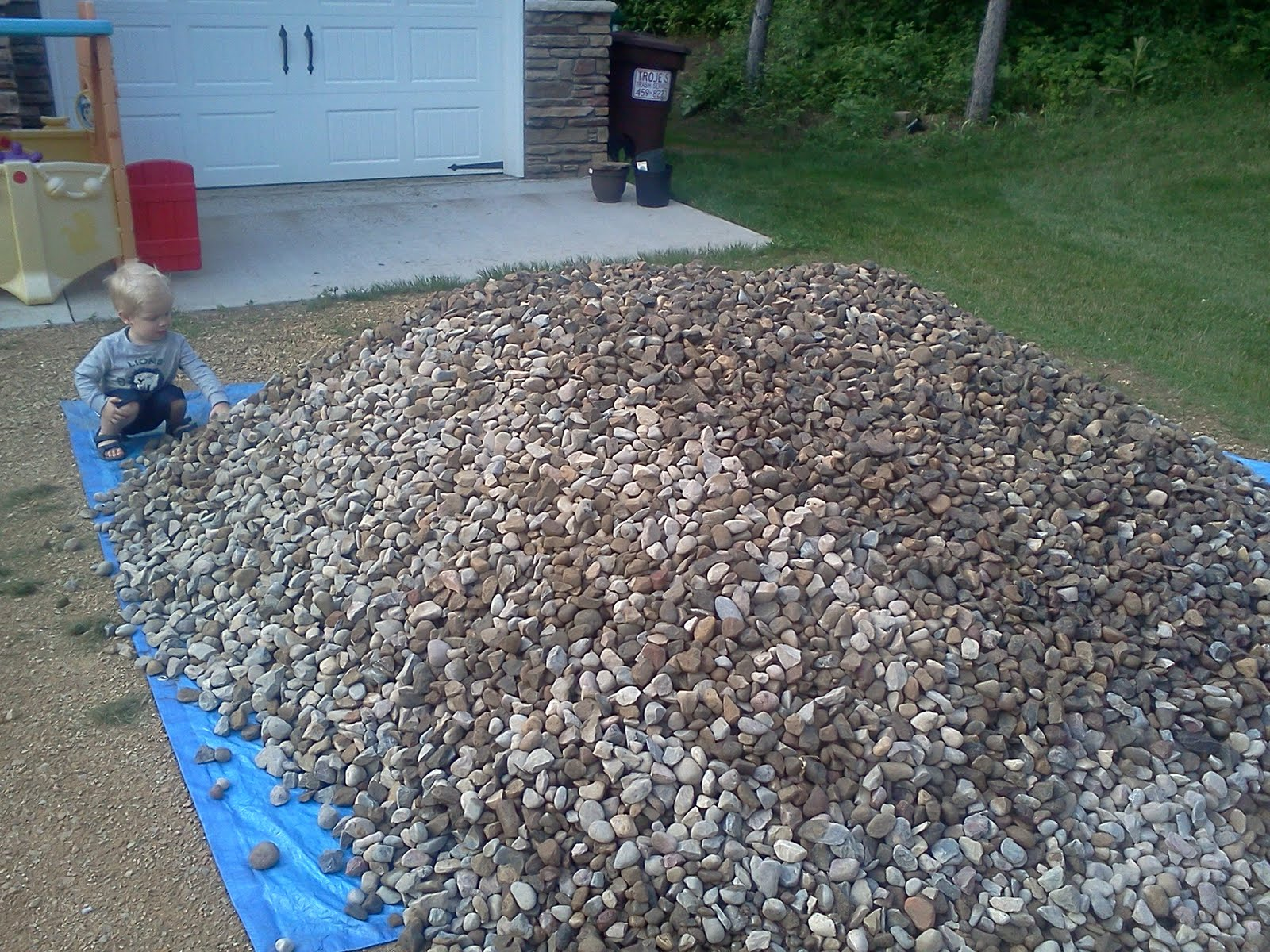 10 Ton River Rock : Home and dollars how about tons of river rock