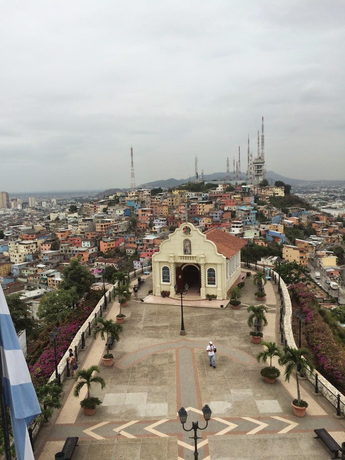 utsikt fra fyrtårnet på toppen av Las Penas