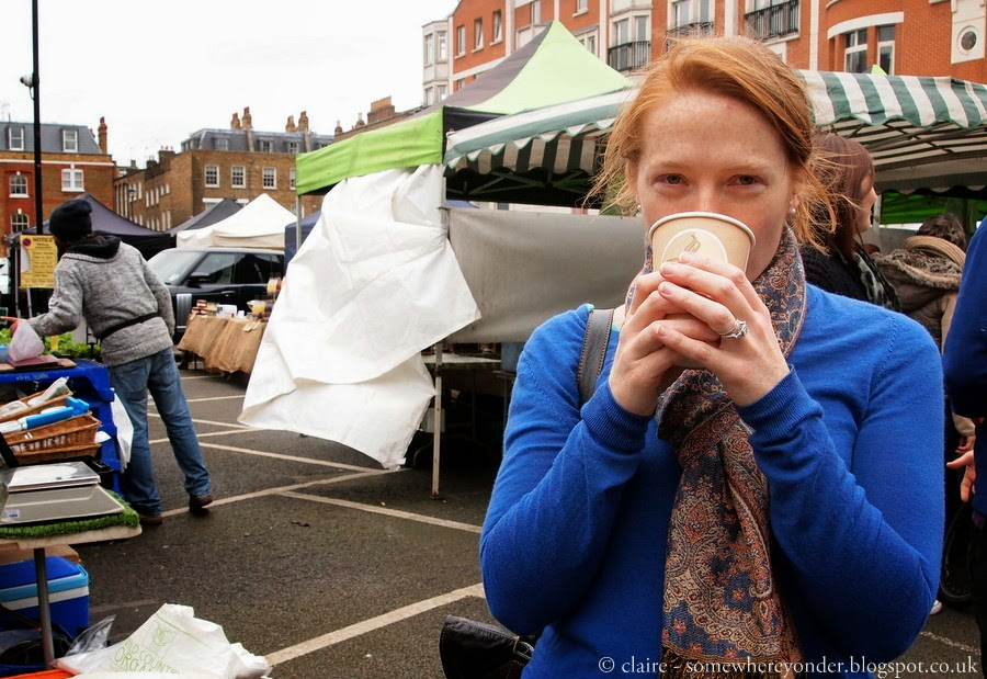 Fresh coffee - Marylebone farmers market, London