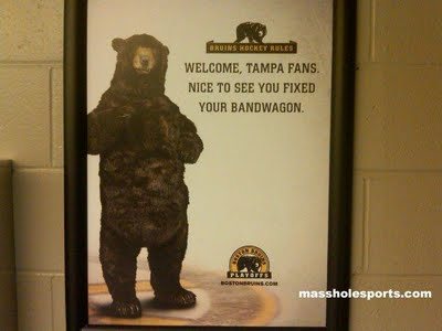 bruins bear ads. Bruins advertisements