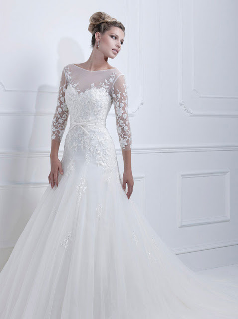 Ellis wedding dresses 2013  lace long sleeves