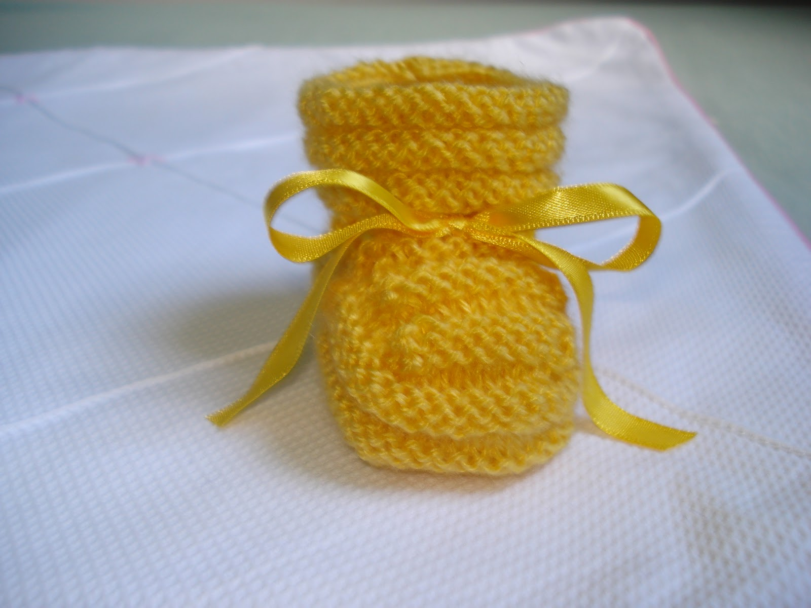 Receita De Sapatinho Amarelinho De Beb   Em Tricot