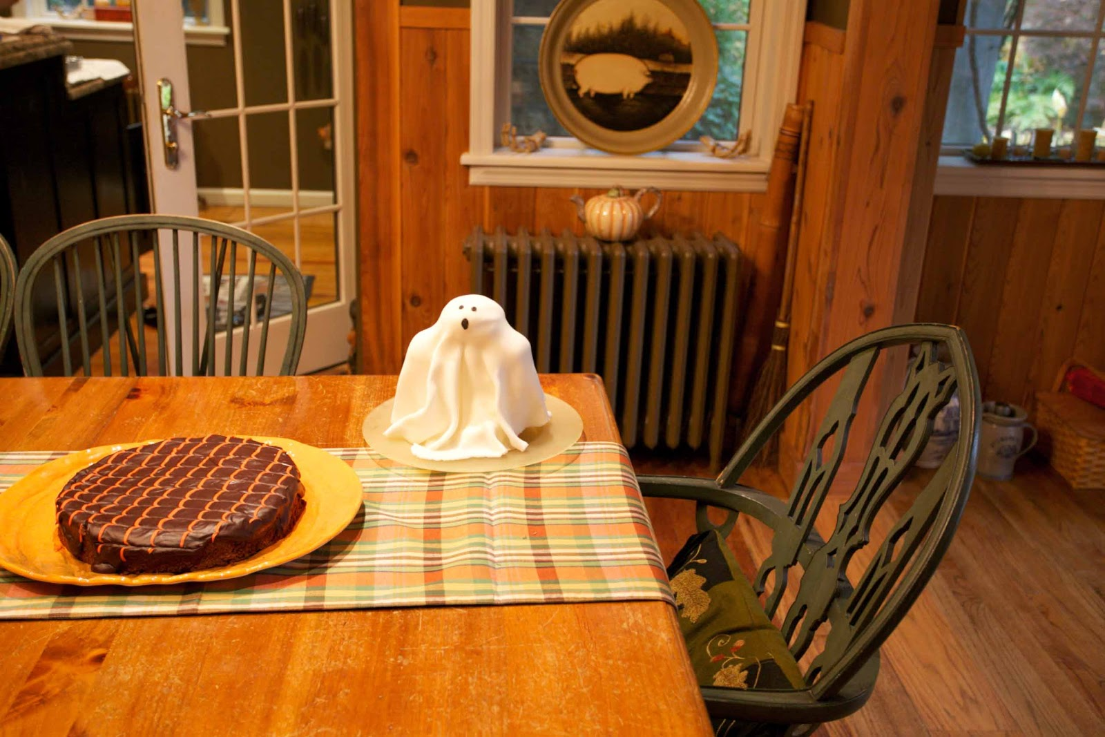 the ghost cake and a chocolate double diablo cake not a crumb was left ...