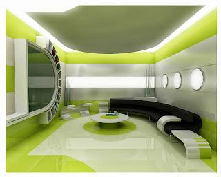Ruang Tamu Futuristik Minimalis