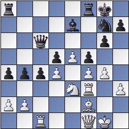Posición partida de ajedrez Bolbochán-Albareda 1946, posición después de 34.Tc1