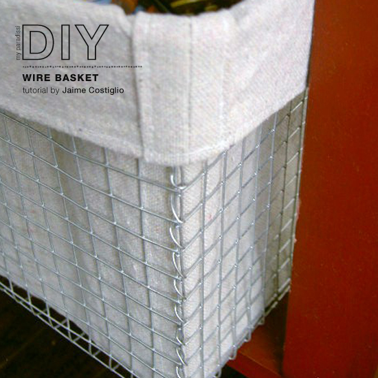 How to make a wire basket tutorial by Jaime Costiglio of That's my letter.