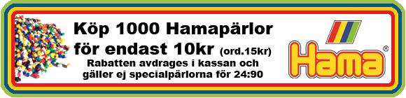 Hamapärlor till kampanjpris 1000st för endast 10kr