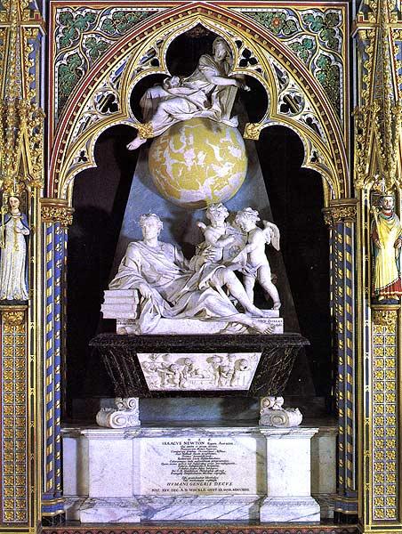 Isaac Newton Tombstone