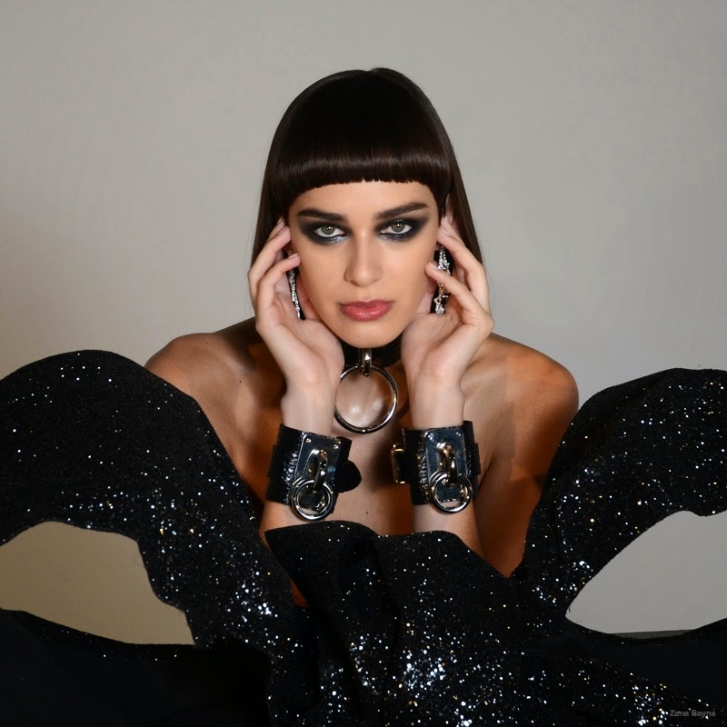 Margaux Brooke covers up with accessories for the Zana Baynes Holiday 2014 Campaign