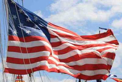 Stars and Stripes, die amerikanische Flagge