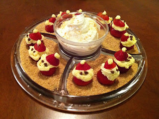 Strawberry cheesecake Santas www.thebrighterwriter.blogspot.com