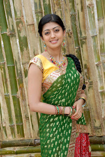 Pranitha latest  saree stills 04.jpg