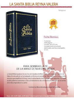 Sagrada Biblia:Reina Valera familiar (negra)