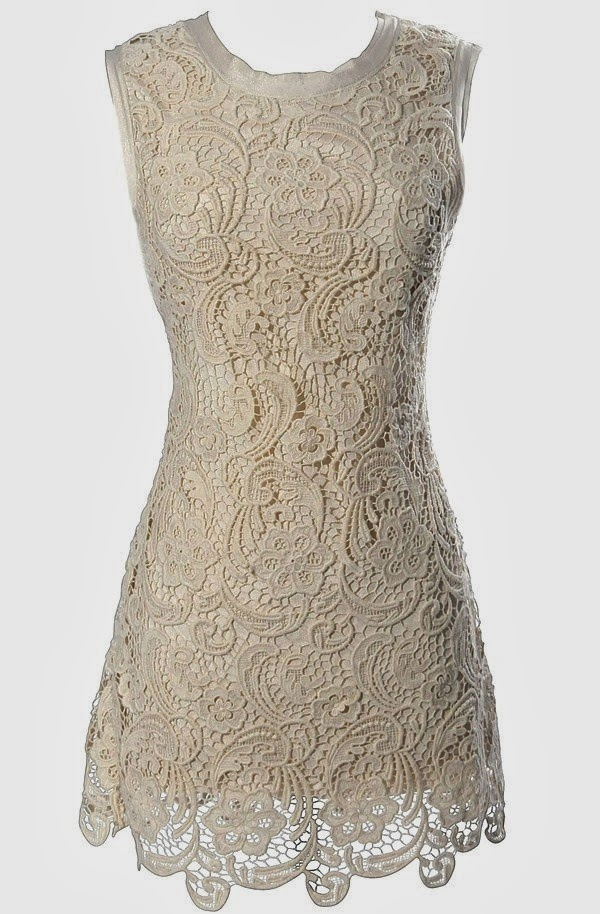 Lace designed white short gown for ladies