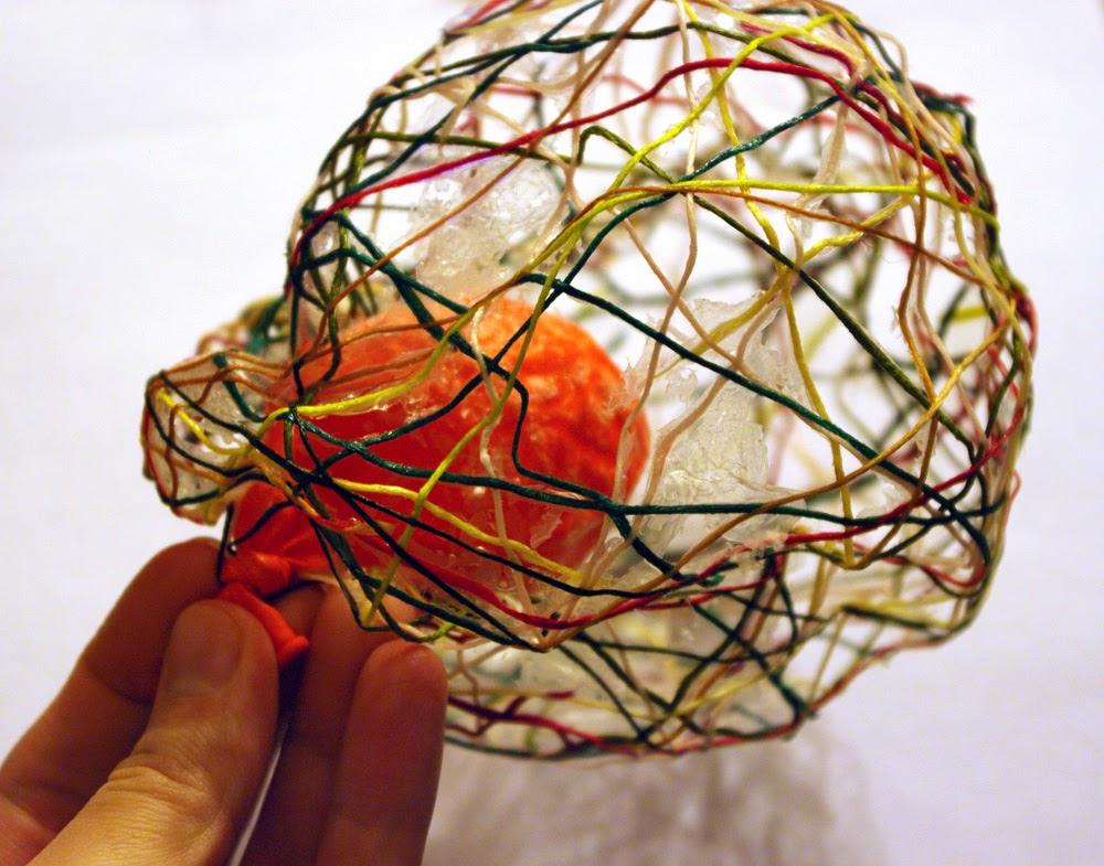 Объёмные шары из ниток своими руками