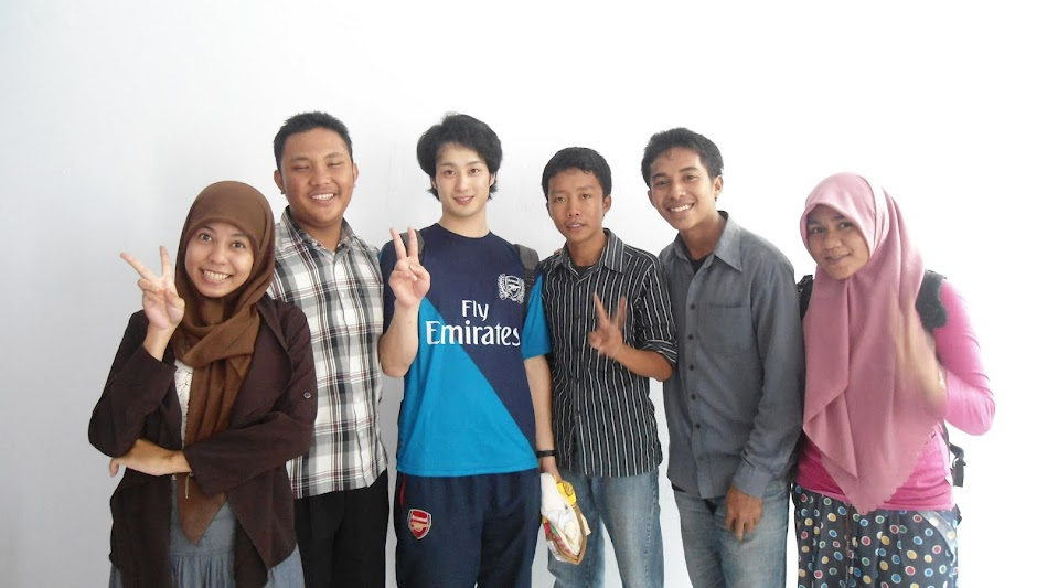 with student from university japan