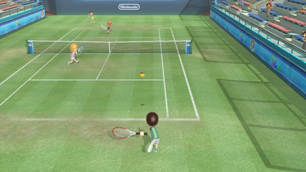 "Tennis in the video game ""Wii Sports Club"""