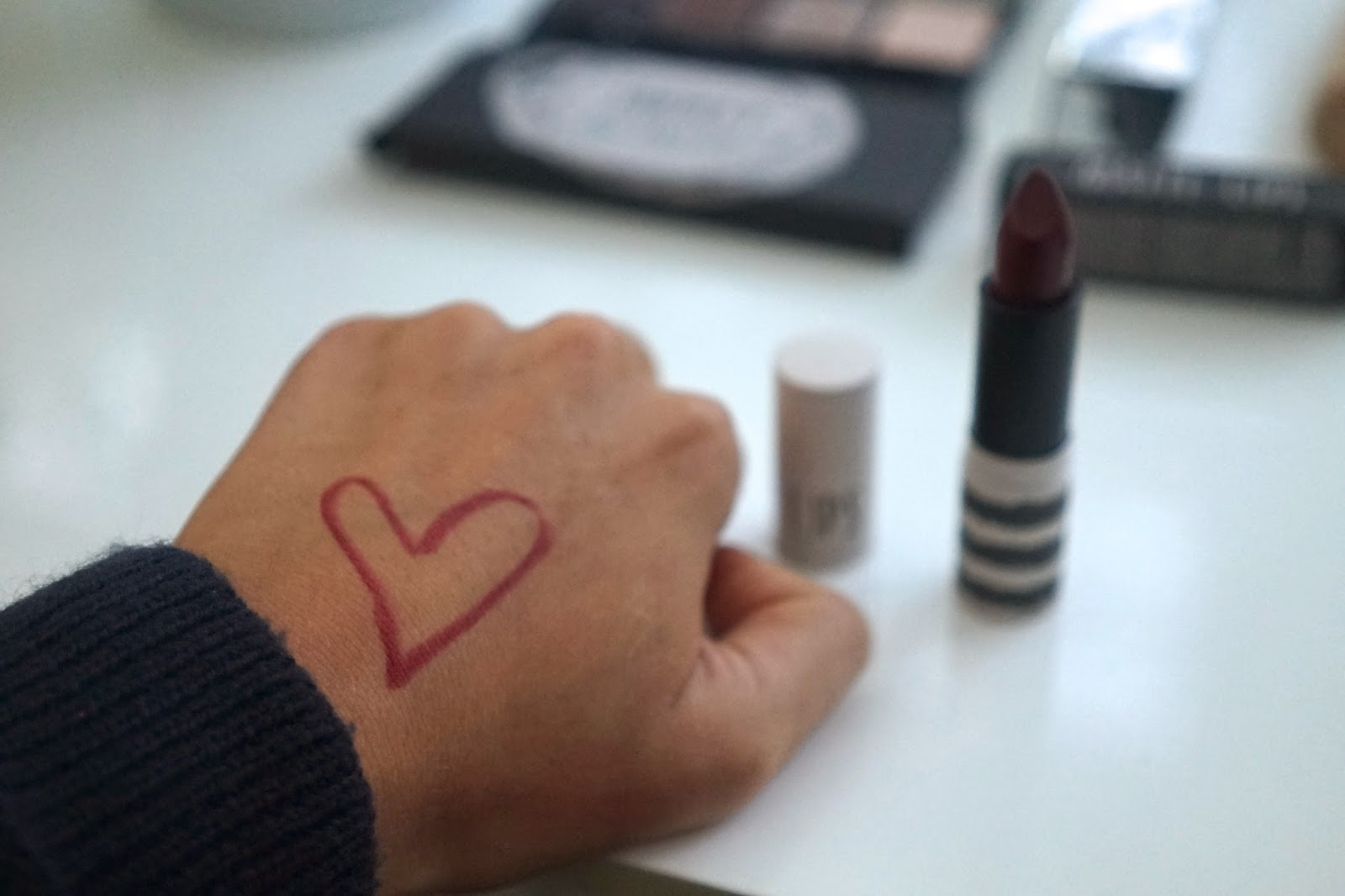 topshop lipstick beguiled swatch