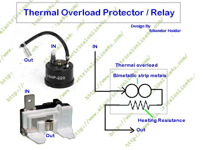 overlaod%2Bprotector%2Bdiagram what is overload protector and what is role of overload protector refrigerator compressor relay wiring diagram at mifinder.co