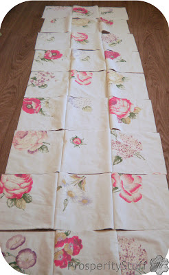 ProsperityStuff Window Quilt Top - assembling rows