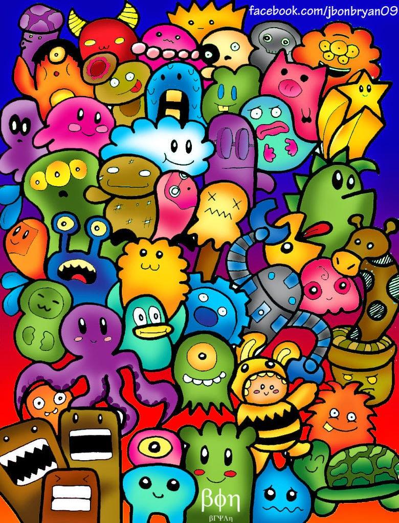 Bagus bukan doodle yang di beri corak warna yang cerah.doodle ini ...