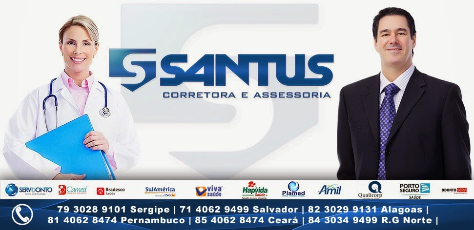 SANTUS CORRETORA - Amil,  Hapvida, Plamed, Bradesco Saúde,Viva Saúde, Odontoserv, Servdonto