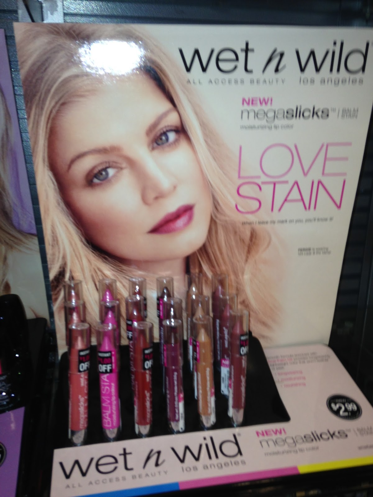 Wet N Wild, Mega Slicks, megaslicks, Love stain, lips