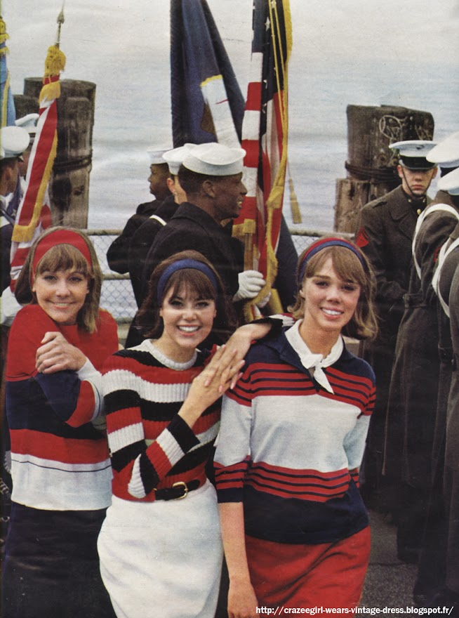 red white blue striped sweater patriotic 60s 1960 1964 masvic bistrot du tricot printemps helanca dropnyl washington tremlett cornuel chez scarlett