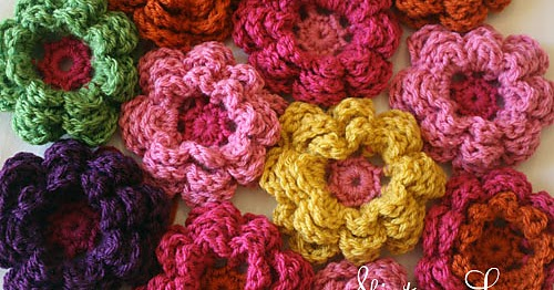 Medium Crochet Flower Pattern : tangled happy: Crochet Flowers
