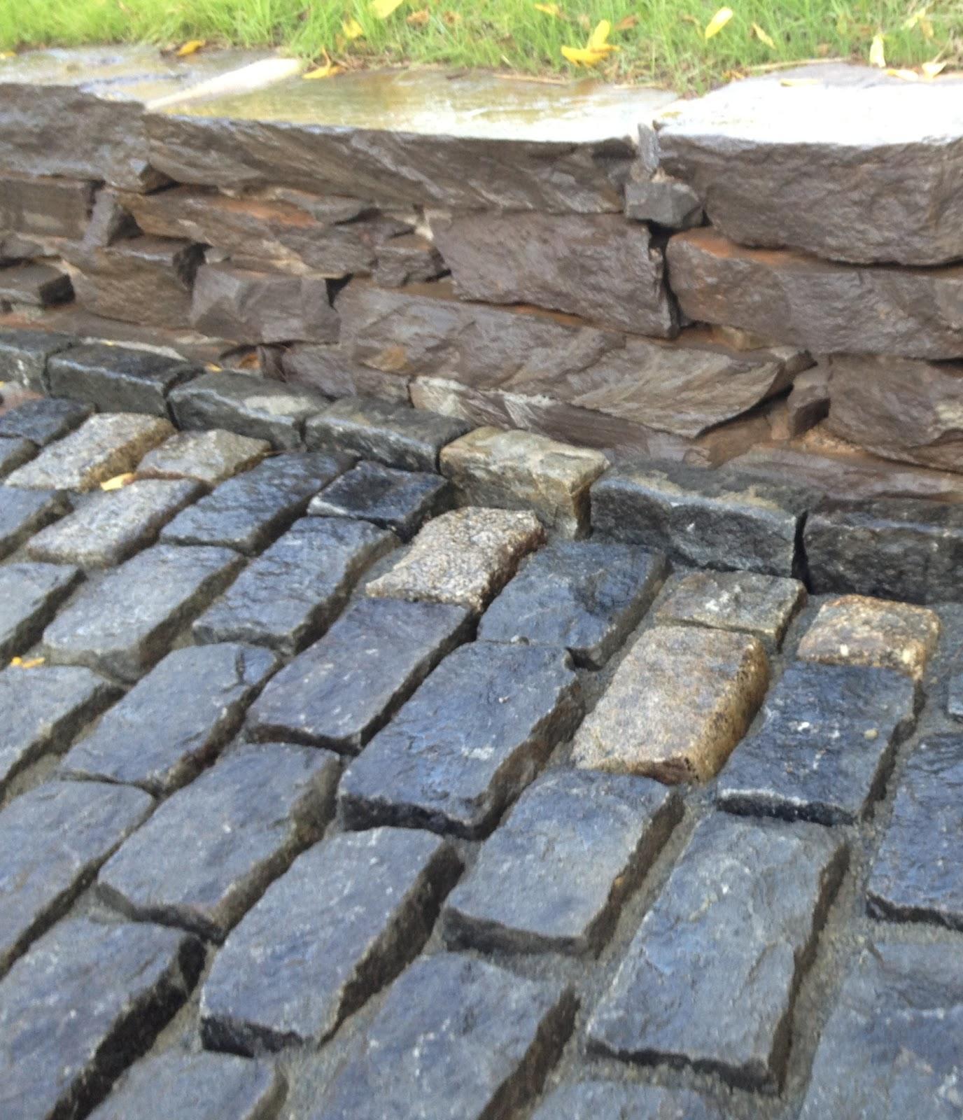 High street market driveway update cobblestone apron progress solutioingenieria Image collections