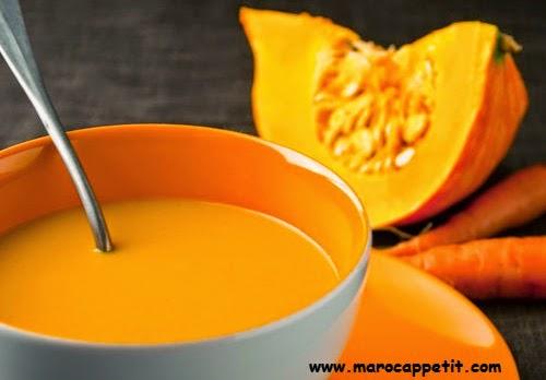 Recette de velouté de potiron au fromage | Pumpkin velvety with cheese recipe