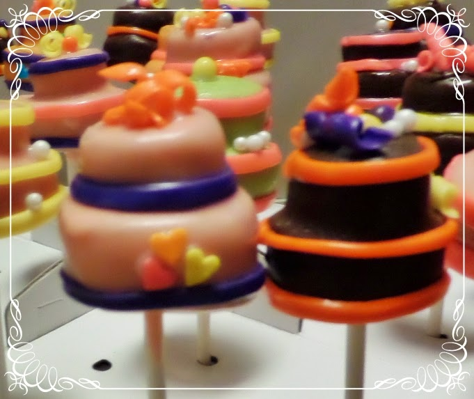 Layer Cake Pops with Fondant Trim
