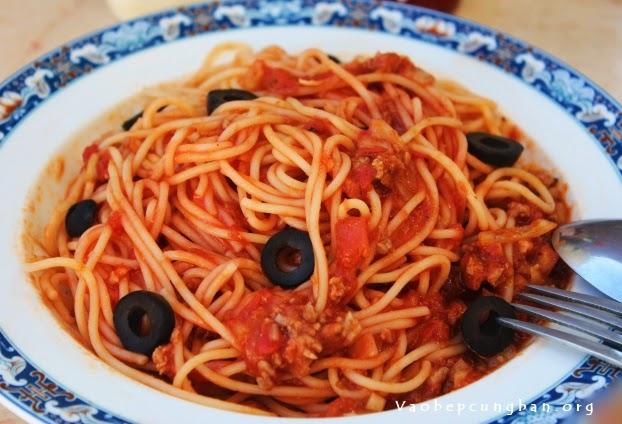 mỳ Ý sốt thịt bò băm