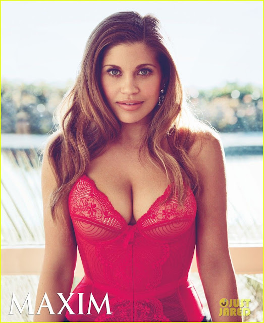 Danielle Fishel, Boy Meets World's Topanga posing as a pinup for Maxim via Lexi DeRock at Voluptuous Vintage Vixen