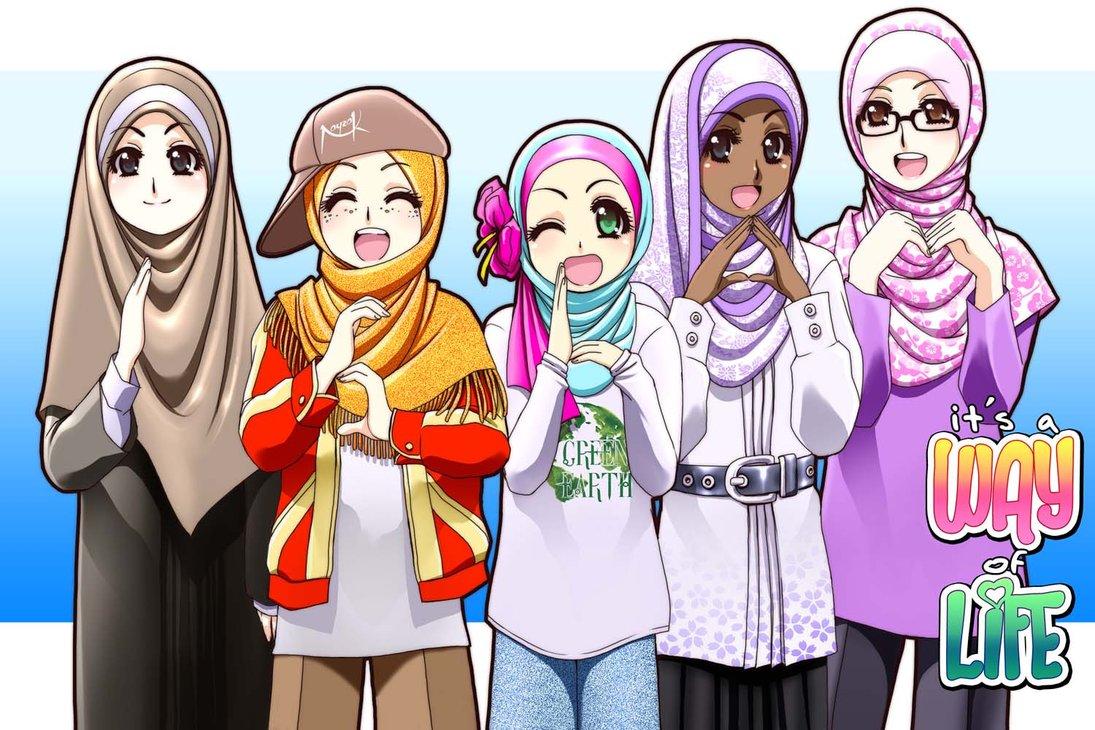 Anime Wanita Muslimah 2