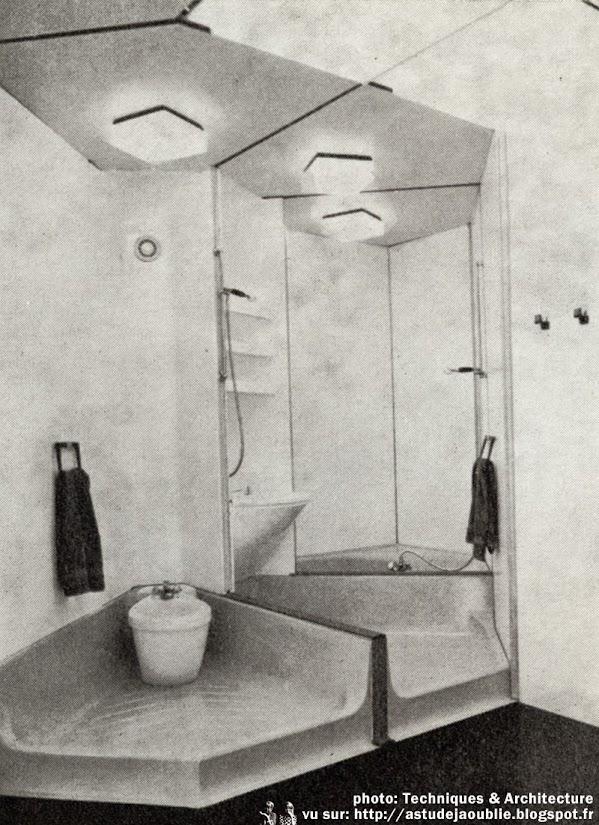 Ludres - Constructions modulaires S.I.R.H.  Concepteurs: Henri Prouvé, Jean Prouvé  S.I.R.H. (Société Industrielle de Recherche et de Réalisation dans l'Habitat)  Architecte: Sandor Majercsik  Construction: 1972 - 1974