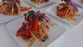 下北沢にwakouシェフ出張料理:広東風 お刺身サラダ