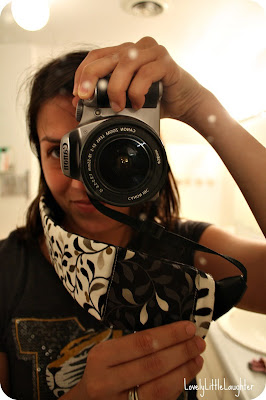 custom camera strap with pocket