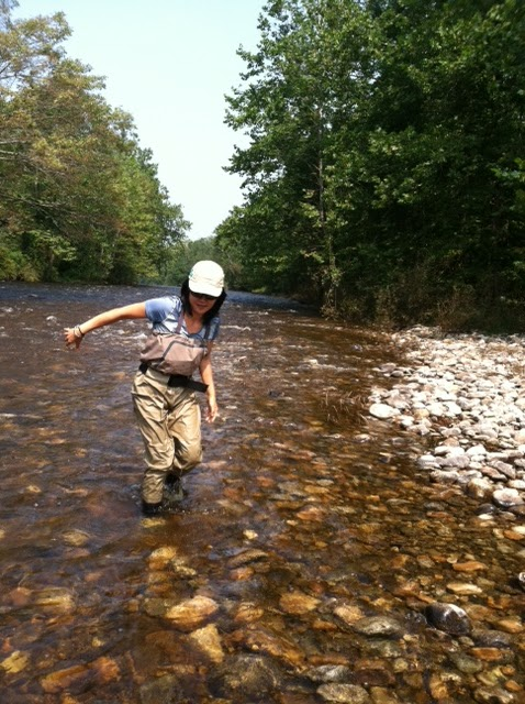 2 flygirls fishing after irene 39 s fury for Upcountry fly fishing