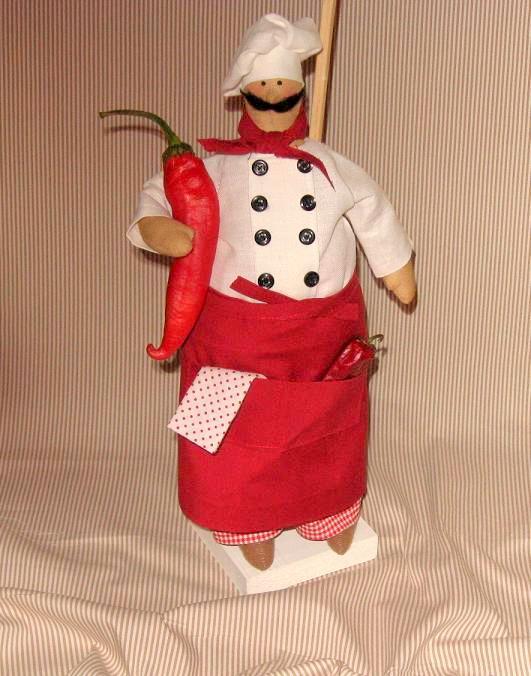 Выкройки кукол тильда повар