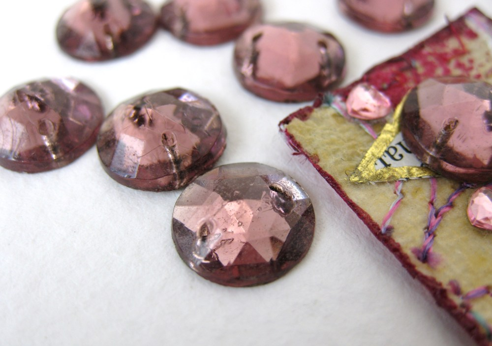 Beautiful Czech Bohemian Glass: Amethyst Sew Ons, History and Provenance