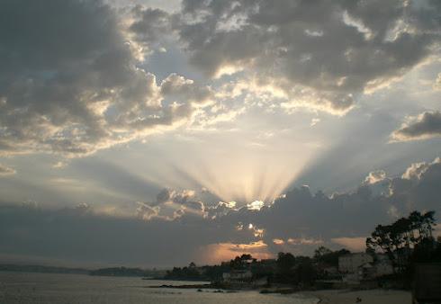 Espectacular puesta de sol este verano 2012