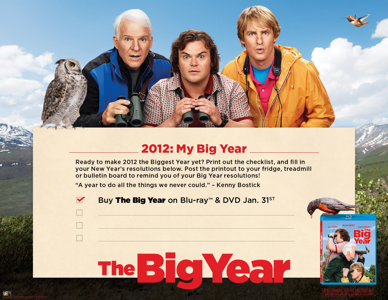 birdinggirl the big year out on dvd january 31stthe big year out on dvd january 31st