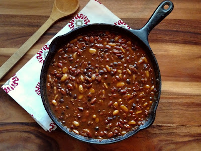 Cowboy Beans {on my plate blog}