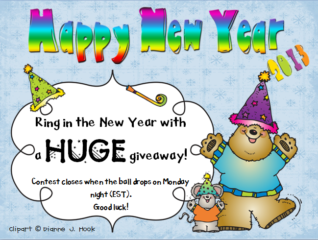 mrs albanese 39 s kindergarten class new year 39 s eve giveaway. Black Bedroom Furniture Sets. Home Design Ideas