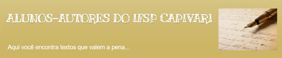 ALUNOS-AUTORES DO IFSP CAPIVARI