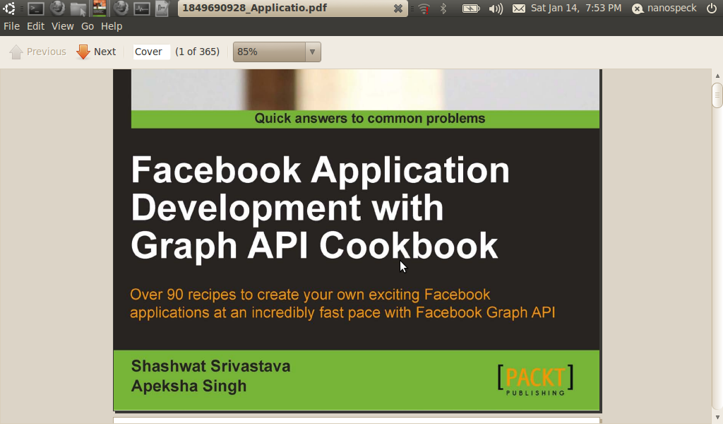 sample facebook application in php