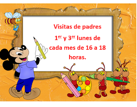 VISITAS DE PADRES Y MADRES.2015/2016