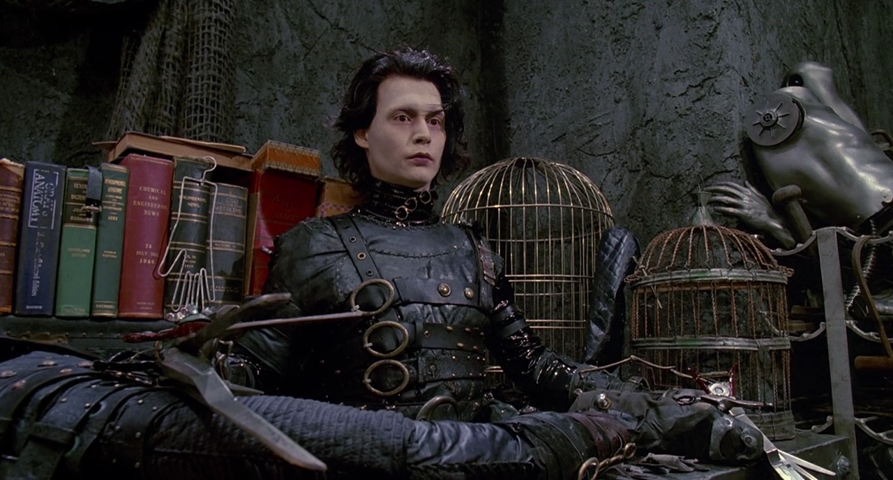In Edward Scissorhands A Struggling Make Up Saleswoman Peg Dianne Wiest Leaves The Safety Of Her Suburban Neighborhood To Visit A Gothic Mansion Atop A